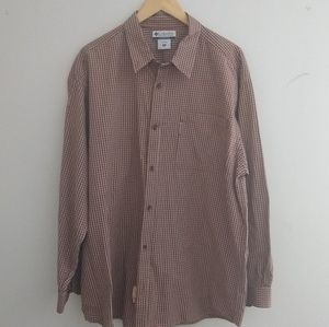 Columbia Long Sleeve Button Up Size XXL